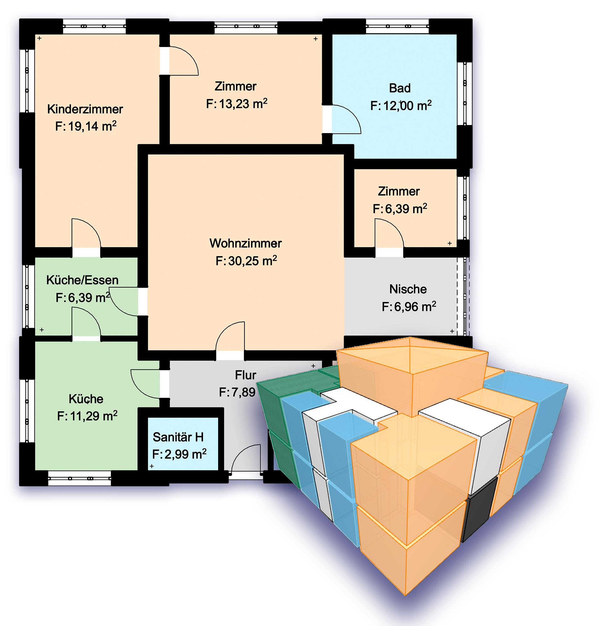 Räume farblich kennzeichnen